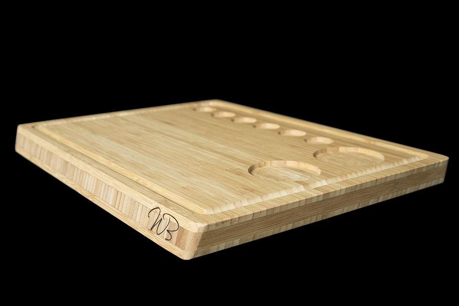 Whisky Brett - Holzbrett aus Bambus