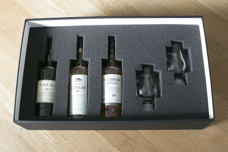 Scotch Whisky Brett Tasting Set mit Gläsern