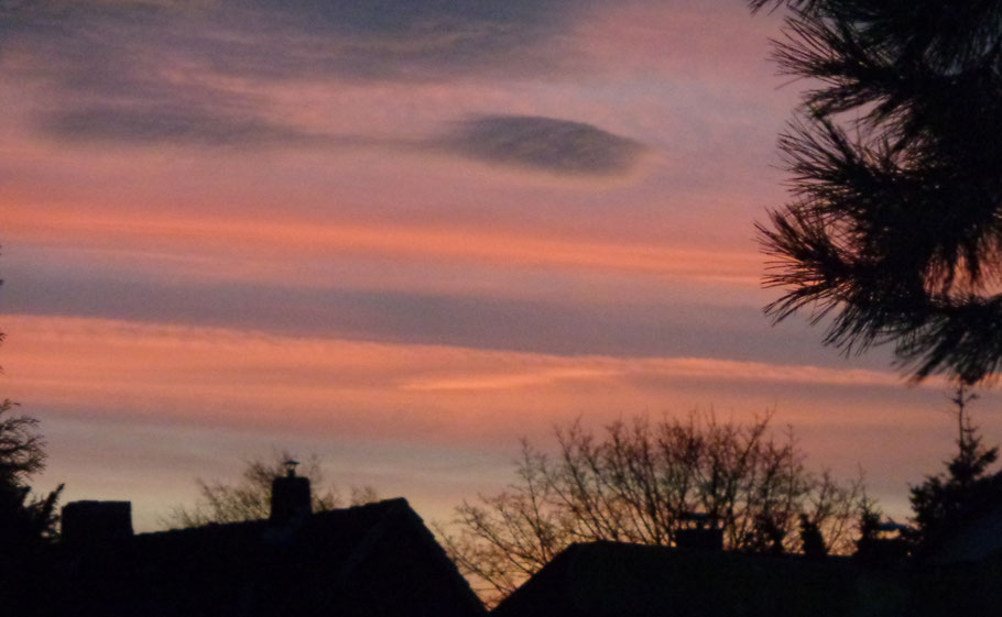 Januar, Himmel am Morgen