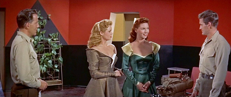Planet des Grauens (World Without End, USA 1956): Nancy Gates, Shirley Patterson, Hugh Marlowe und Rod Taylor