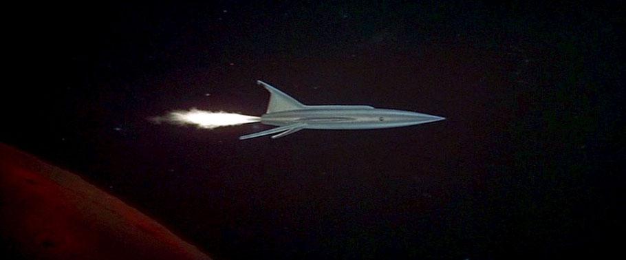 Planet des Grauens (USA 1956) Raumschiff XRM auf dem Rückflug vom Mars zur Erde