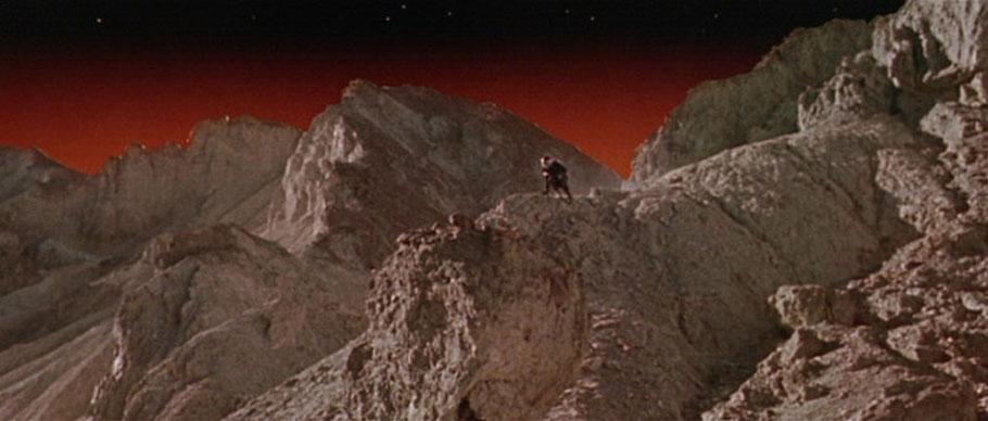"Szenenfoto aus dem Film ""Robinson Crusoe auf dem Mars"" (Robinson Crusoe On Mars, USA 1964)"