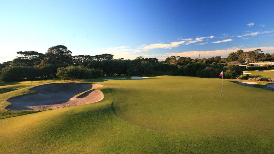 Das Golfplatzdesign von Royal Melbourne in Australien