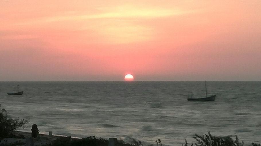 Sunset seen from Casa Turquesa-telchac