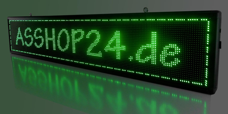 LED-Laufschrift / LED-Display (grün) 200 cm x 40 cm