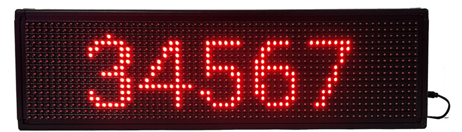 LED-Laufschrift mit Anzeigefläche 64 cm x 16 cm, rot