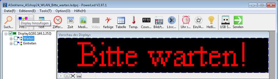 LED-Laufschrift WLAN Software