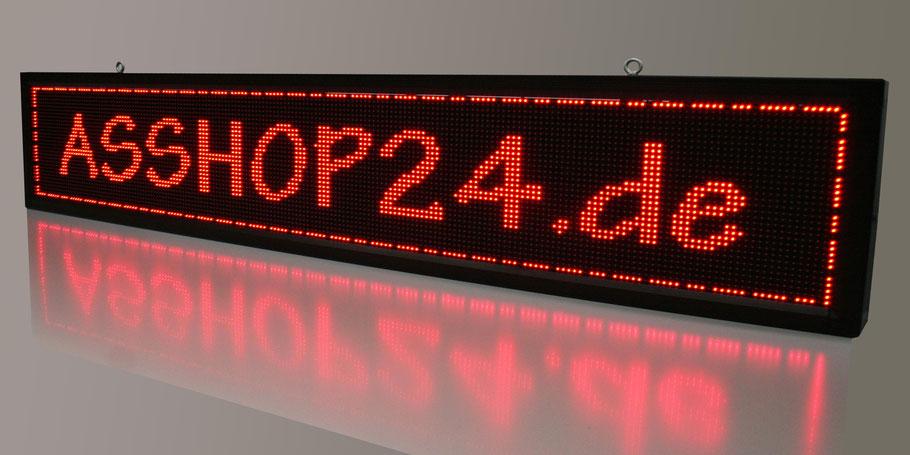 LED-Laufschrift / LED-Display (rot) 200 cm x 40 cm