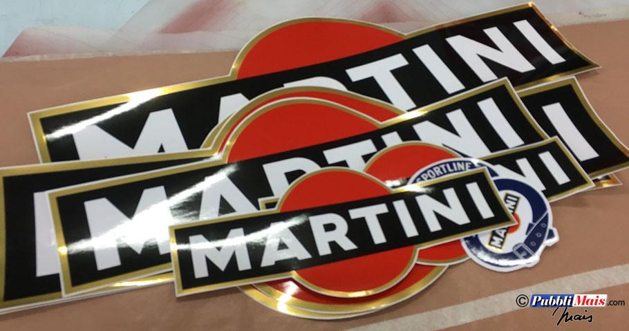 sticker decal adesivi decalcomanie kit logo martini sportline oro a specchio originali rally lancia delta 037 4wd integrale delta s4 evo 16v 8v shop negozio venduti creati preparati da pubblimais
