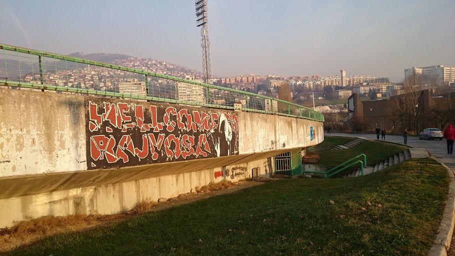 Asim-Ferhatovic-Hase Stadion FK Sarajevo Horde Zla Graffiti