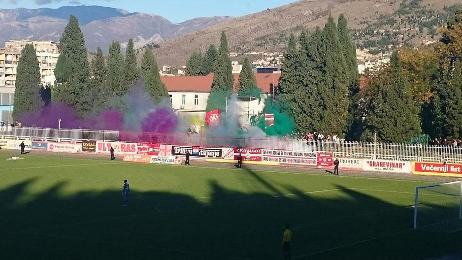 Zrinjski Mostar Ultras Pyro Stadion Bijelo Brijeg Stadion
