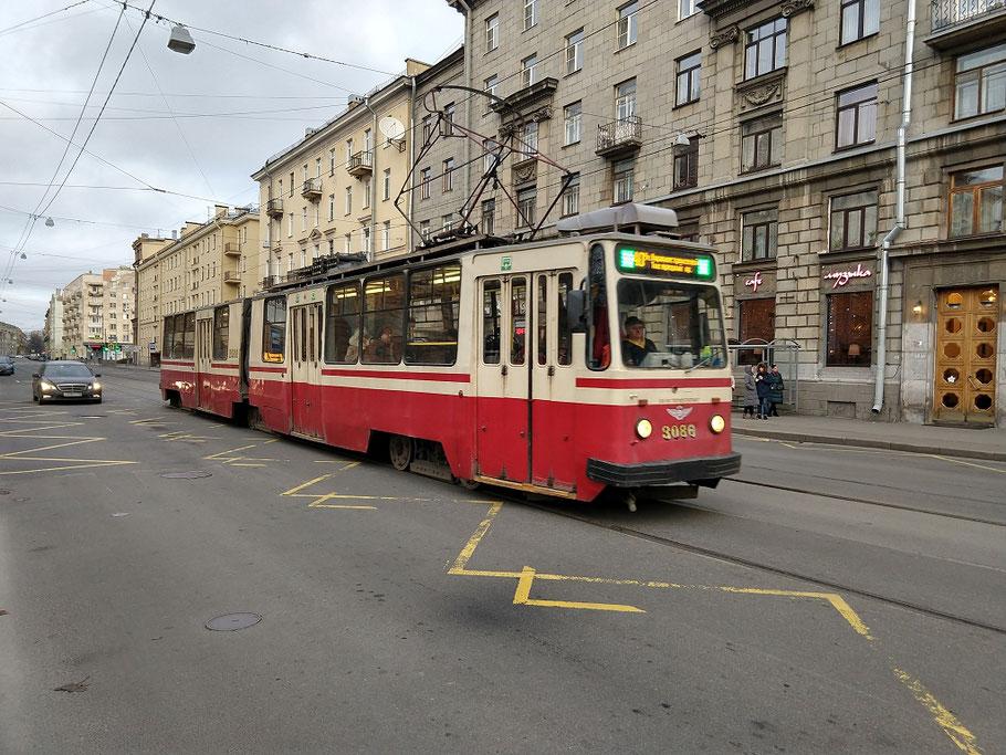 Straßenbahn Tram Sankt Petersburg