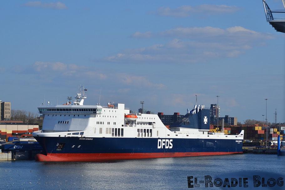 DFDS Fähre Kiel Klaipeda Hafen