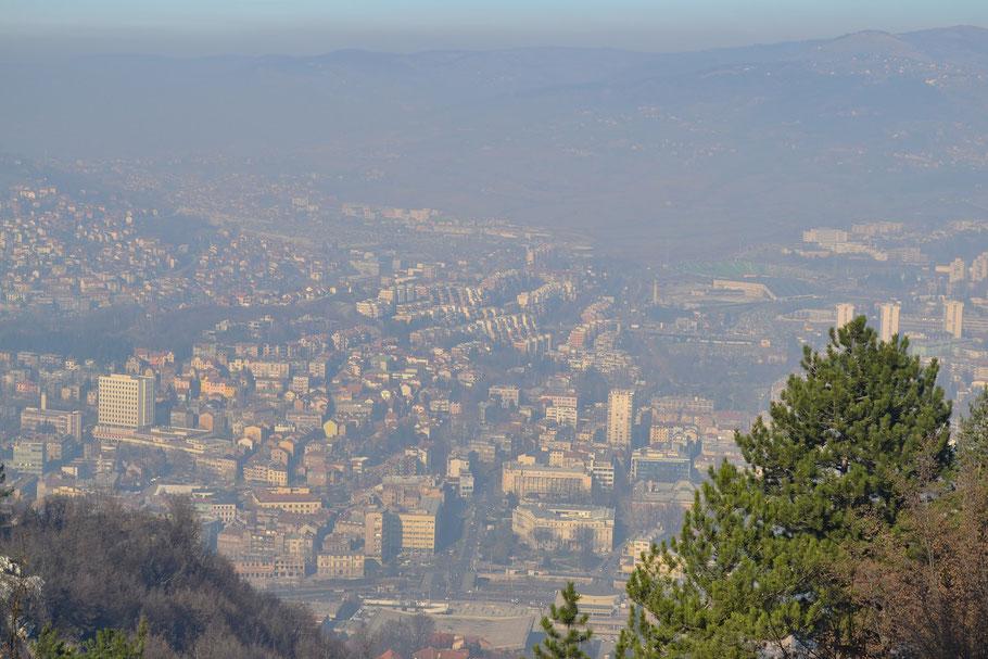 Luftbild Sarajevo Kosevo Asim-Ferhatovic-Hase Stadion FK Sarajevo