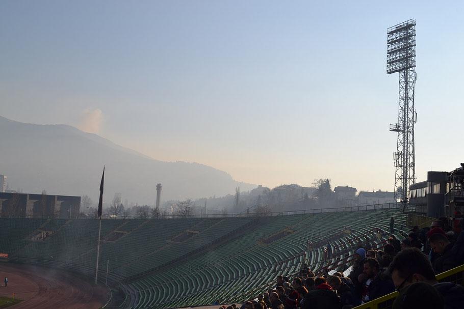 Asim-Ferhatovic-Hase Stadion FK Sarajevo Horde Zla Flutlicht
