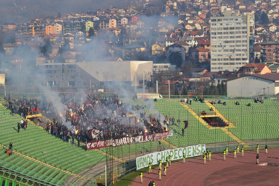 Asim-Ferhatovic-Hase Stadion FK Sarajevo Horde Zla Ultras Bengalo Pyro