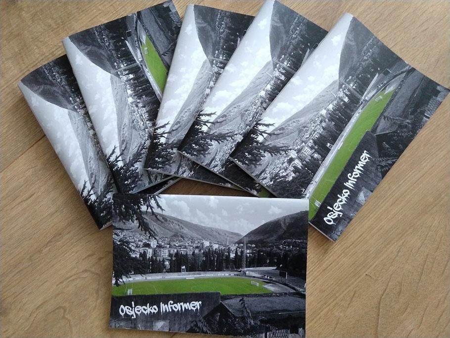 Osjecko Informer Groundhopping Fußball Heft Mostar