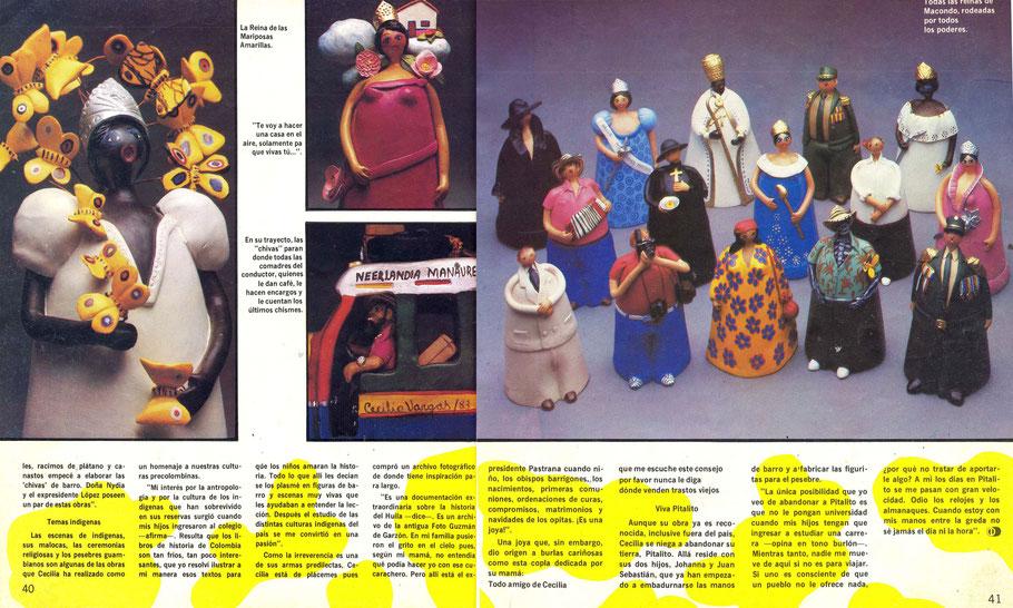 Revista Diners sobre Cecilia Vargas Muñoz