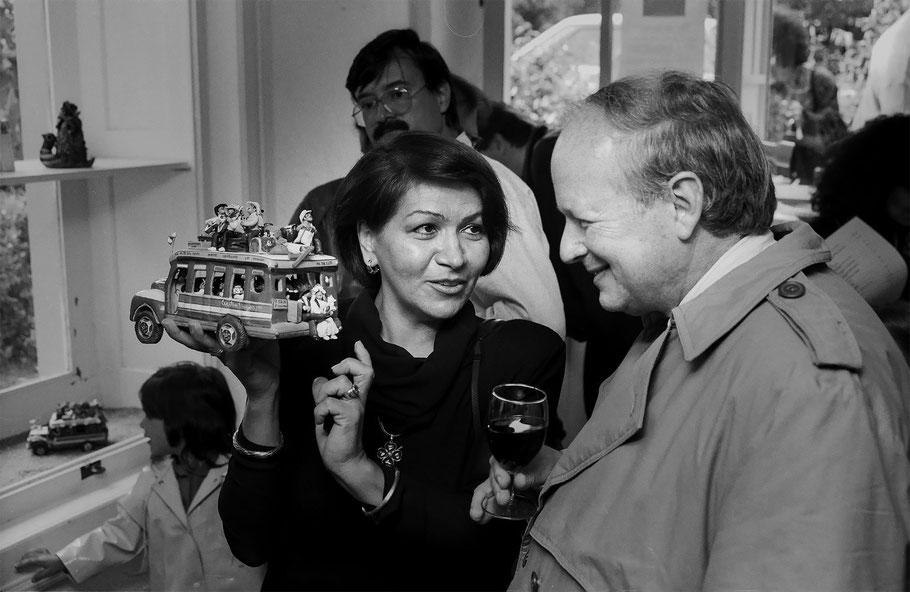 Cecilia Vargas Muñoz con Enrique Low Murtra en Zurich