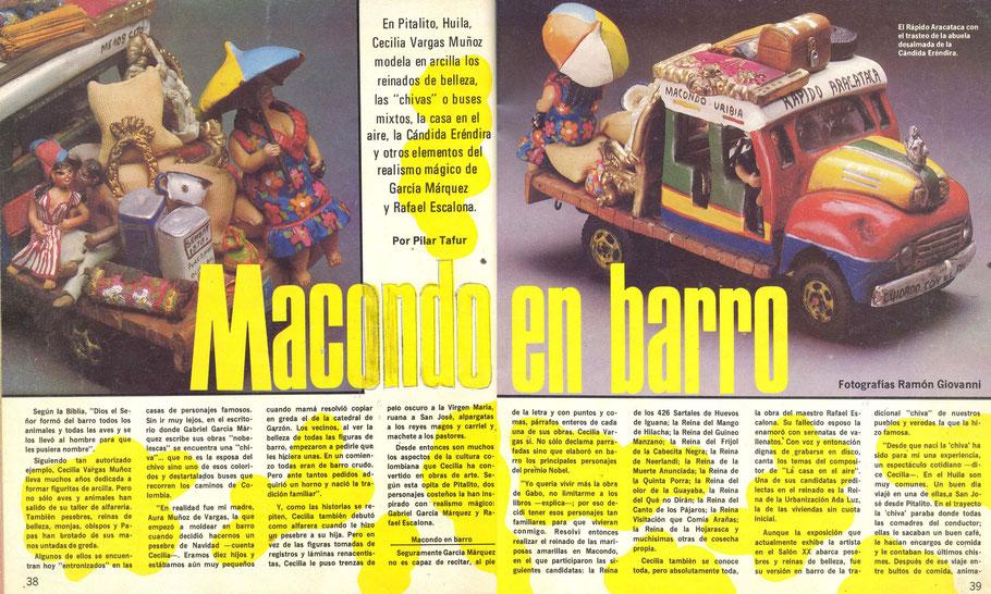 Revista Diners Club sobre Cecilia Vargas Muñoz