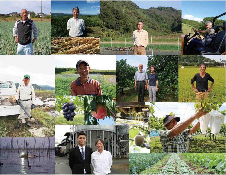 農家と畑のイメージ写真