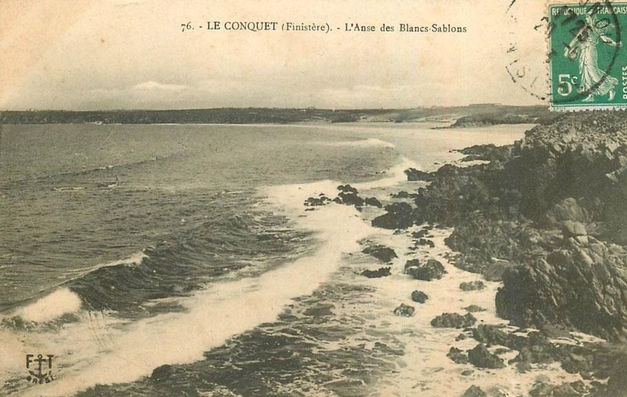 Le magnifique site de la pointe de Kermorvan et de la plage des Blancs Sablons, le lieu du naufrage du Guy Ferryville