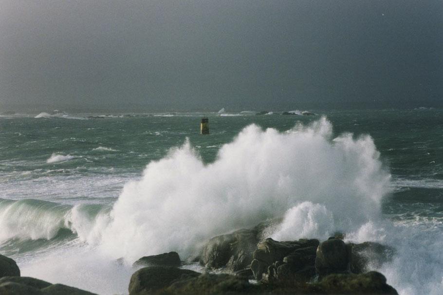 La basse-Plate lors d'une forte tempête début janvier 1999 (Photo Marie-Laure Decosse)