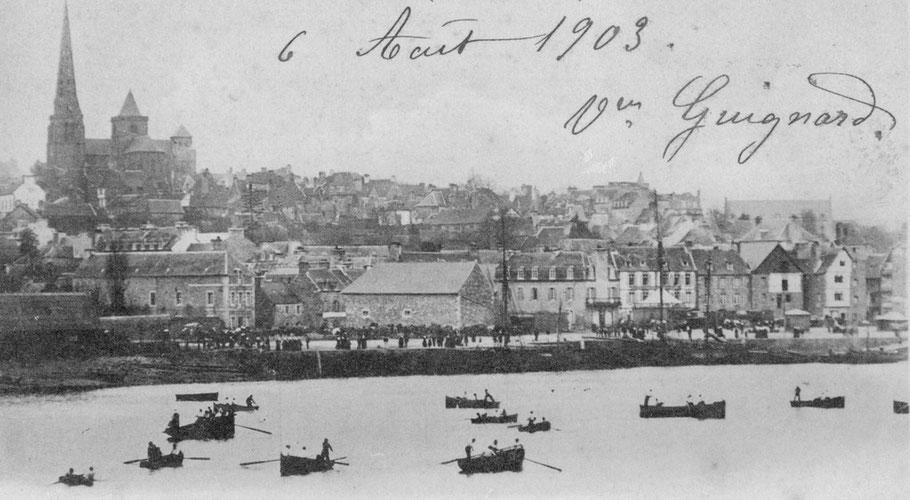 Dragage des huitres à l'aviron à Tréguier