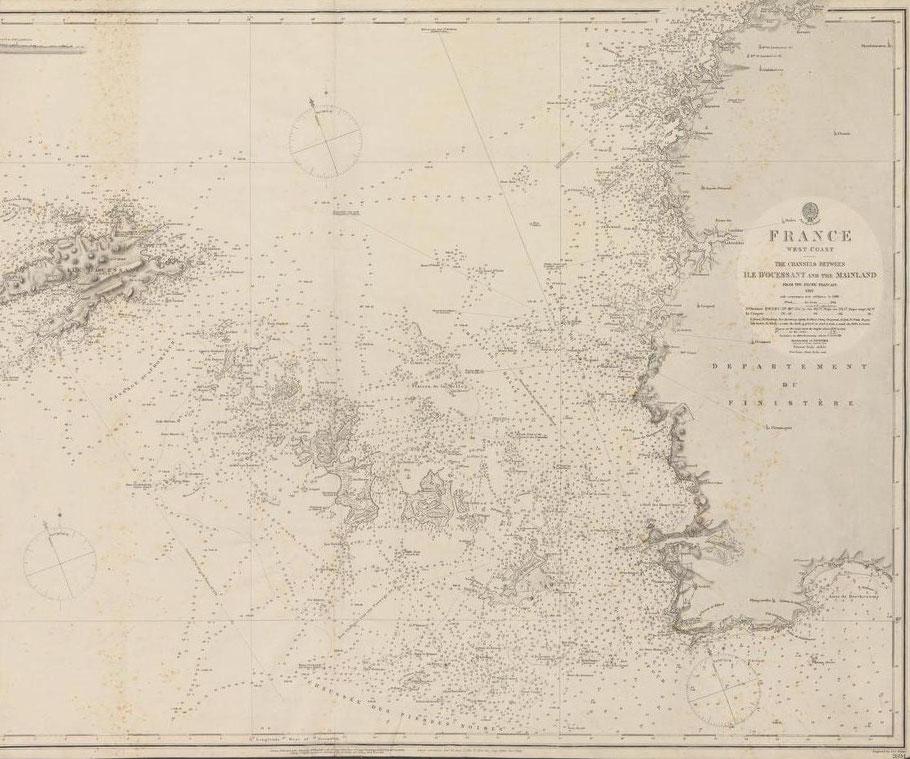 Le secteur de Ouessant, de l'archipel de Molène des chenaux du four et du Fromveur est particulièrement difficile pour la navigation.