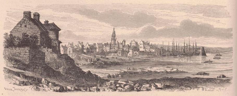 Roscoff en 1867 gravure parue dans l'illustration