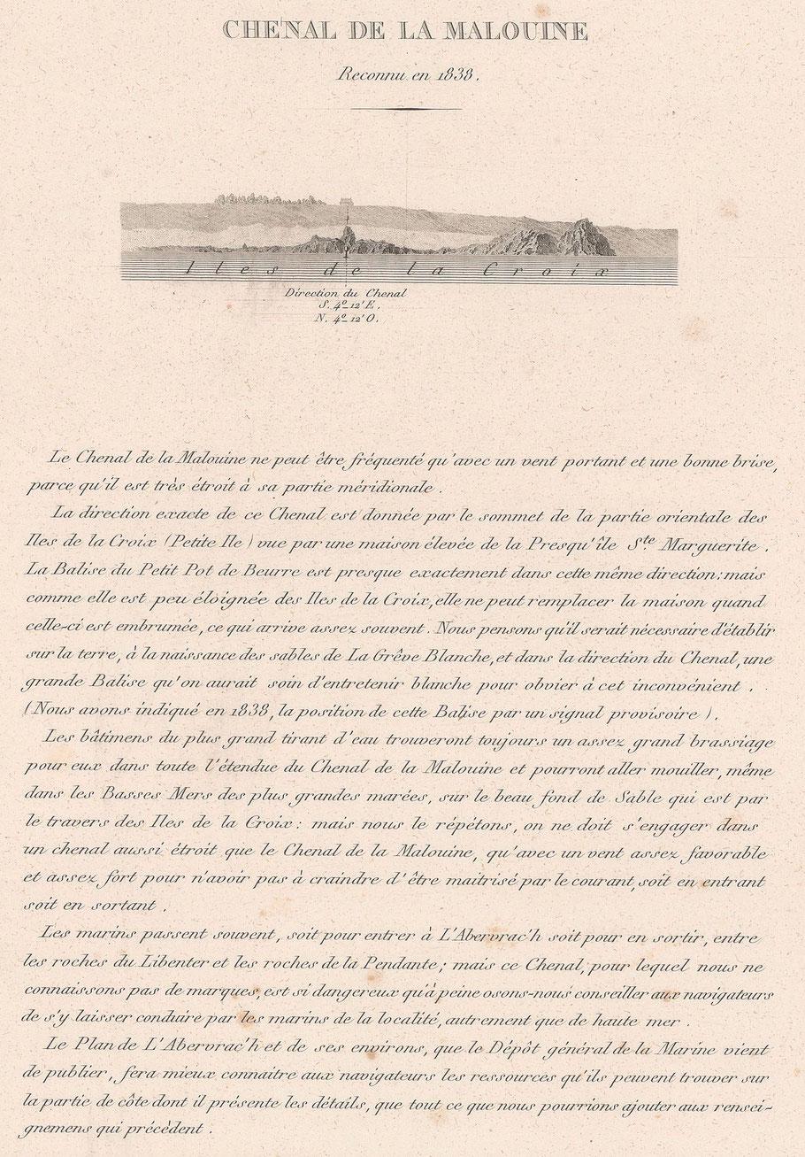 Instructions pour le chenal de la Malouine à l'Aberwrac'h