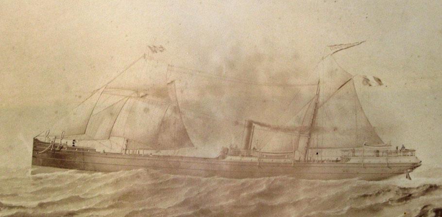 Steamer Courrière de Dunkerque