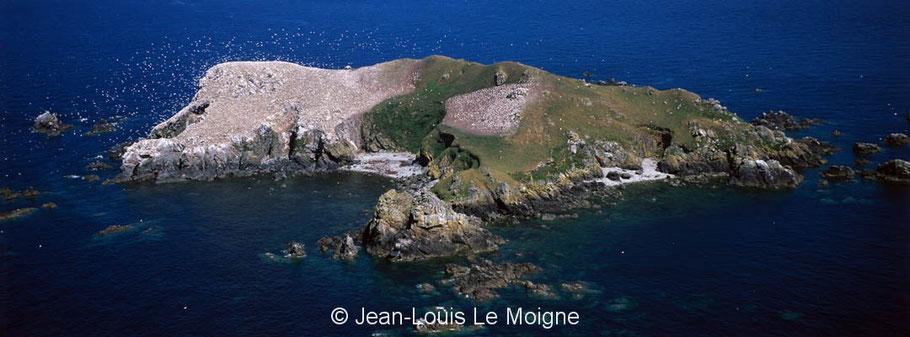 Rouzic vue de l'ouest,  photo Jean-Louis Le Moigne