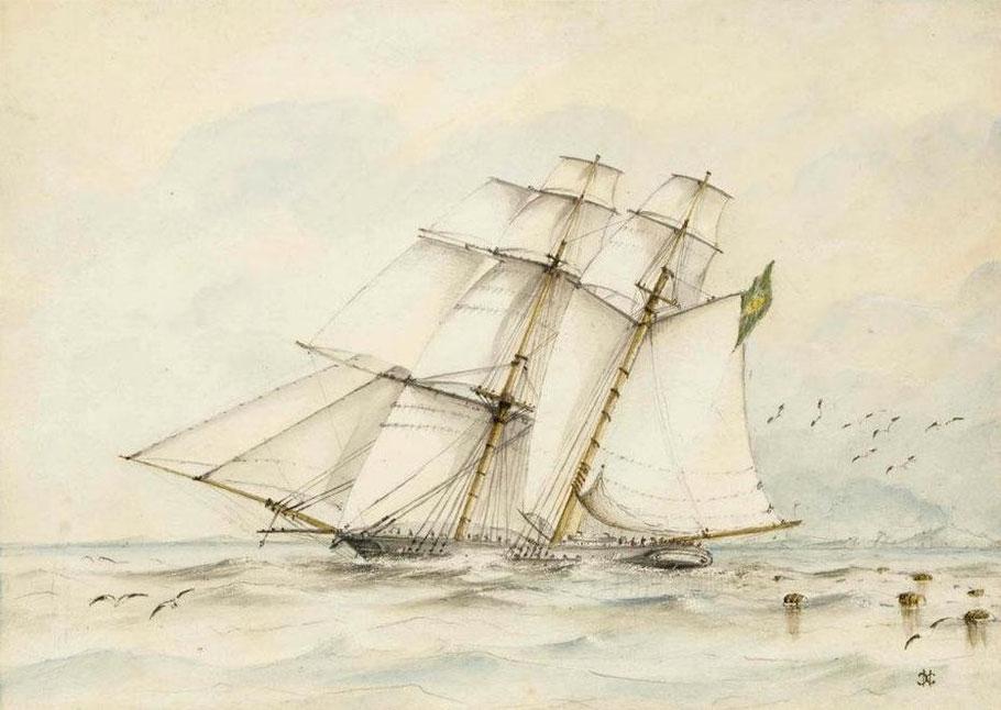 Brick goélette négrier brésilien Esmeralda capturé en 1864