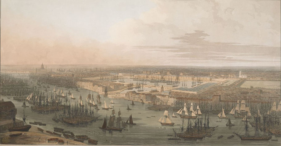 Port de Londres en 1804