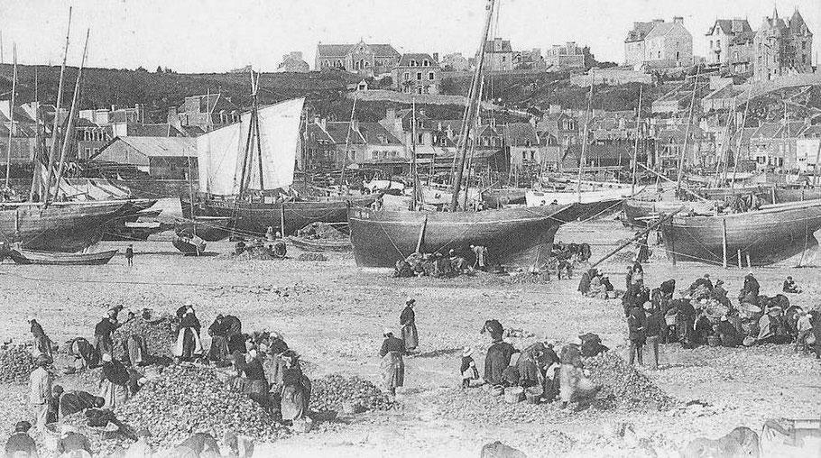 Le port de la Houle pendant le rebinage