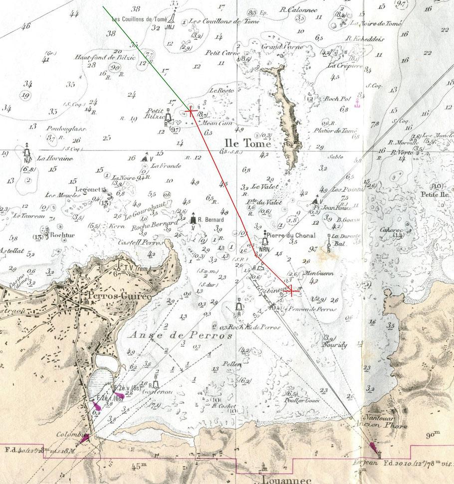 Pour les caboteurs, c'est souvent les atterrages les plus dangereux, la visibilité était peut être mauvaise pour suivre le feu à secteur du phare de Nantouar