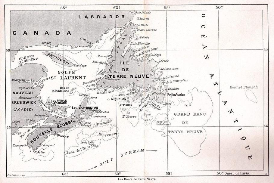Cartes des bancs de Terre-Neuve