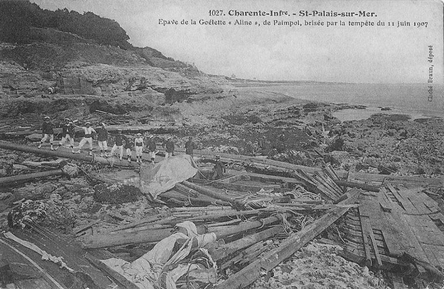 Le navire et son chargement son entièrement perdu, en quelques jours la goélette est entièrement détruite par la mer et les grèves sont couvertes d'épaves