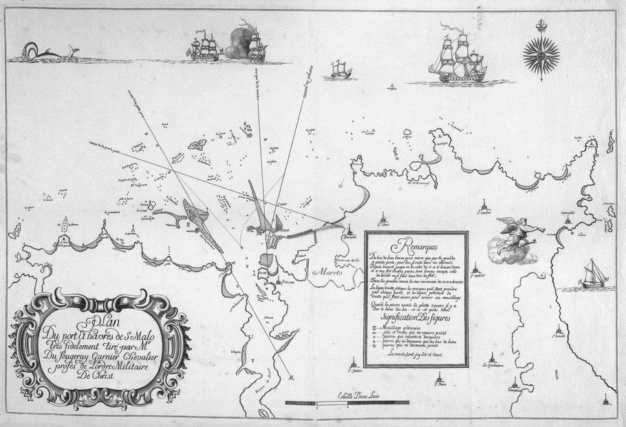 Plan du Port et havre de st. Malo en 1700