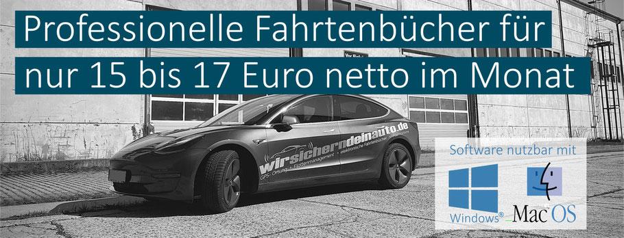 Elektronische Fahrtenbücher für alle Marken Audi BMW Mercedes Jaguar Tesla VW Range Rover