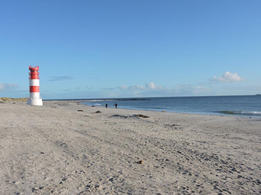Der Südstrand an einem klaren Tag Ende November 2019 Foto: Chiara Haase