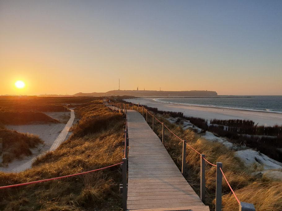 Blick von der Düne auf die Hauptinsel Foto: Chiara Haase