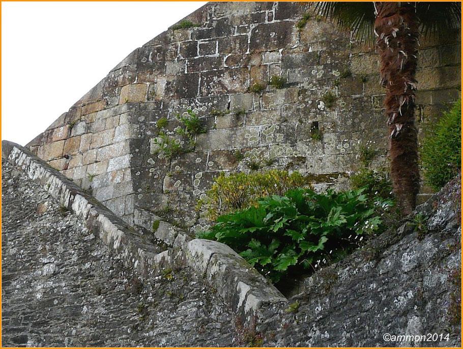 Chemin de ronde du château de Morlaix