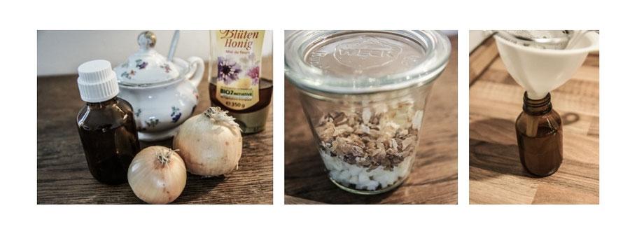 Zubereitung Zwiebelhustensaft - Grundrezept