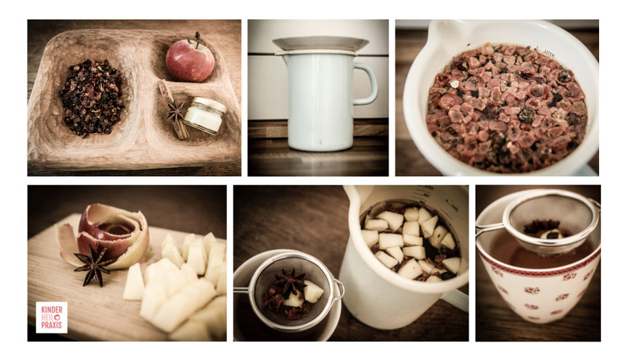 Zubereitung Hagebutten-Vitamintee
