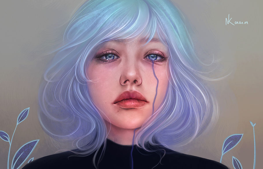 Noemi Kramer Amimik Gris game digital painting fan art Conrad Roset