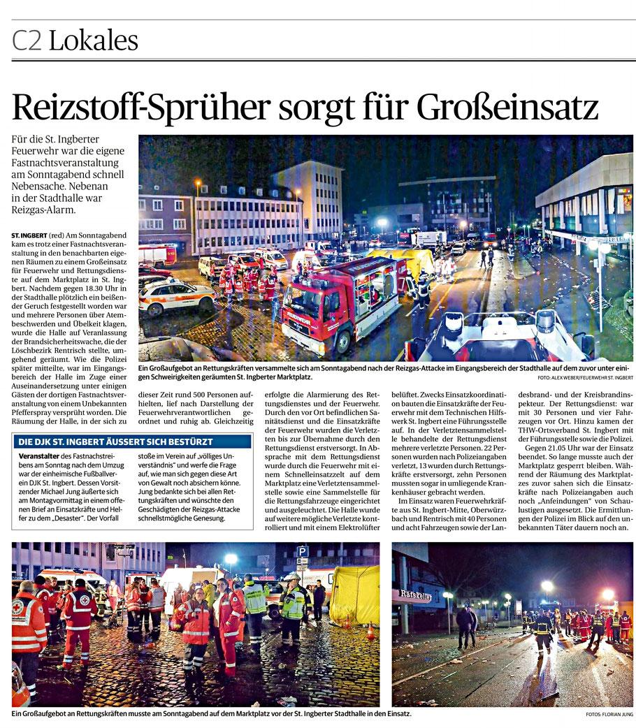 Saarbrücker Zeitung 13. Februar 2018
