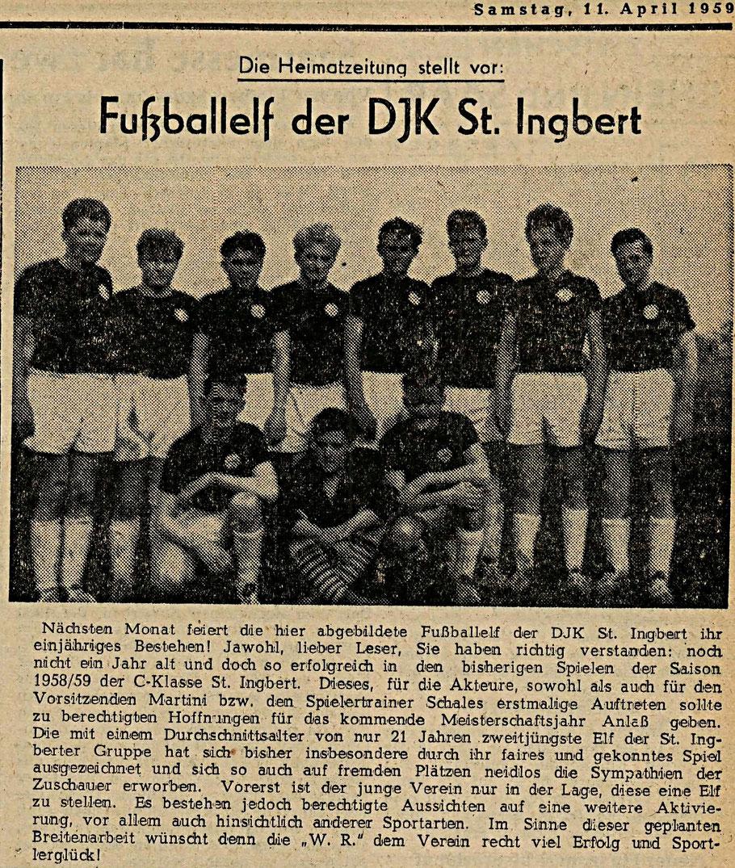 Ein Artikel in der Westpfälzischen Rundschau vom 11. April 1959 (gefunden von Karl Abel, Rohrbach)