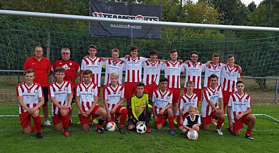 A-Jugend Saison 2018/19 mit neuen Trikots der Gehnbachfreunde e.V.